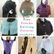 Free Knitted Poncho Patterns Simple Decorating Design