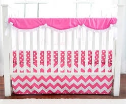 Hot Pink Chevron Crib Rail Guard Set Chevron Crib Bedding