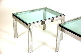 chrome and glass side table end tables small