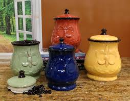 canisters enchanting kitchen counter canisters kitchen canisters target with blue red yellow green ceramic canisters