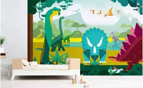 dinosaur wallpaper mural bespoke boys