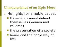 epic hero characteristics characteristics