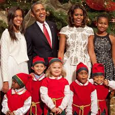 Family Christmas Picture Obama Family Christmas Card December 2016 Popsugar Celebrity