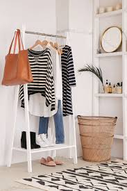 ... Wooden Hanging Clothes Rack Amazon Ideas: Charming Hanging Clothes Rack  For Bedroom ...
