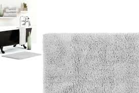 gray bath rug reversible bath mat in light silver grey bath mat runner grey bath