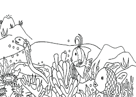 Coral Reef Coloring Page Coral Reef Coloring Page Coral Coloring