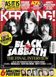 Kerrang Official Rock Chart Kerrang Magazine Black Sabbath In 2019 Arena Rock