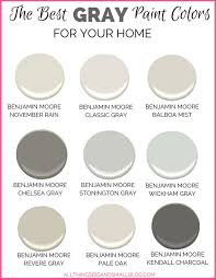 best paint colorsGray Paint Colors for Your Home  Best Benjamin Moore Gray Paint
