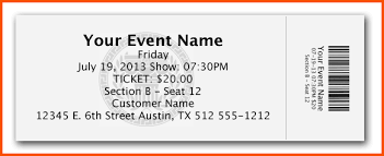 Samples Of Tickets For Events Event Ticket Template Sample Get Sniffer