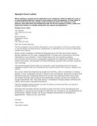Cover Letter Sample For Job Application Resume Examples