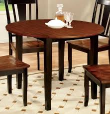 furniture of america cm3326bc rt dover transitional black cherry wood round dining table