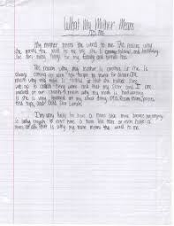 An Essay About Mother Mothers Day Essay What My Mother Means To Me By Ava