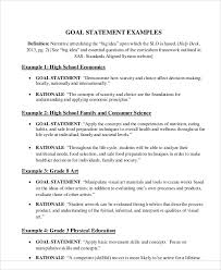 examples of statement example of a thesis essay gxart sample goal statement 9 examples in word pdf