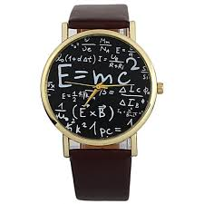 faux leather math equation watch brown