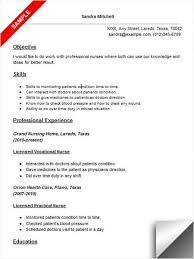 Licensed Vocational Nurse LVN Resume Sample Resume Examples Unique Lvn Resume