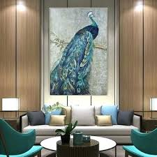 peacock wall decor original gold and art picture canvas print a carved india peacock wall decor