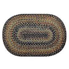 black forest indoor outdoor braided rugs rug and white oval black oval rug