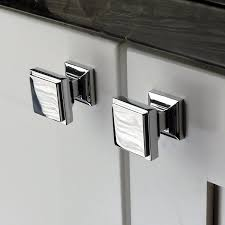 Square Kitchen Door Handles Southern Hills Polished Chrome Square Cabinet Knobs Pack Of 5