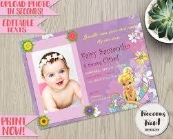 Tinkerbell Invitations Printable Tinkerbell Birthday Invitation Editable Fairy