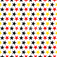 Mickey Mouse Pattern Of Red, Black, And Yellow Stars On A White Background  Royalty-Free Stock Image - Storyblocks