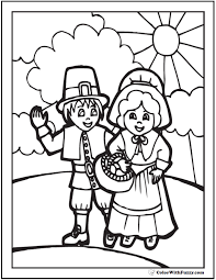 Small Picture 68 Thanksgiving Coloring Page Customizable PDFs