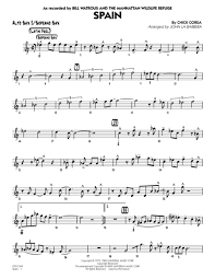 Spain Chord Chart Spain By Chick Corea Sheet Music To Download And Print