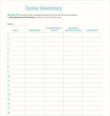household inventory template. Home Inventory Template 9 Download Free Document In Word Contents