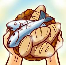 Image result for five loaves and two fishes clip art