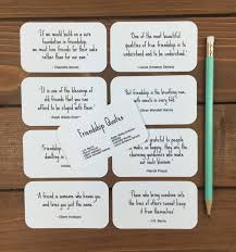 Quotes About Friendship Long Distance Friendship Quotes Set of 100 Mini Quote Cards Whimsicals Paperie 97