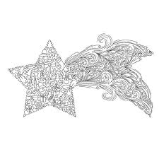 Small Picture Christmas coloring page Christmas Star shooting star instant