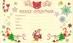 christmas certificates templates fun gift certificate template