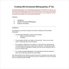 Apa Annotated Bibliography Example Annotated Bibliography Apa Format Sample Ohye Mcpgroup Co