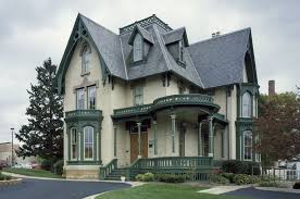 The Lake-Peterson House, 1873, a Yellow Brick Gothic Revival home in  Rockford