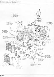vf1100cshopmanual engine diagram · engine removal