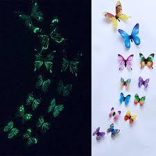 <b>12Pcs/set Luminous</b> butterfly Wall Sticker living room Butterflies for ...