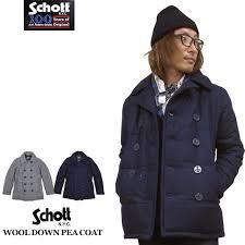 schott shot 100 anniversary wool down peacoat wool down pea coat 2016fw new s