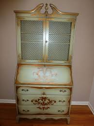 antique hand painted secretary desk