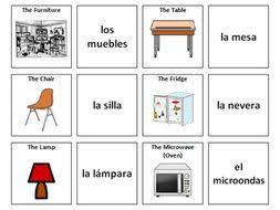furniture in spanish. Beautiful Furniture Furniture Spanish Vocabulary Card Sort And Furniture In