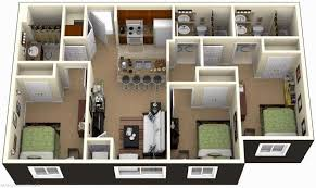 1000 Sq Ft House Plans 3 Bedroom 3d And Plansdesign With Bathroom Gallery  Picture
