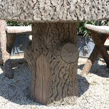 sold a set of cement faux bois garden furniture valrie martin