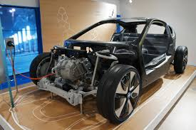 electric car motor horsepower. Li-Ion Battery-powered BMW I3 Showing The Carbon Fibre Structure And Electric Motor Car Horsepower