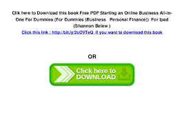 pdf starting an online business all in one for dummies for dumm   in the last page 5