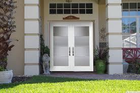 white double door. Inspiration Idea White Double Front Door With Modern Glass Doors On