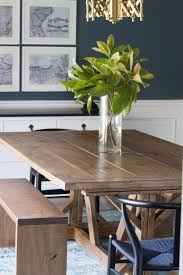 best diy dining room table new modern farmhouse dining table benches erin spain and elegant