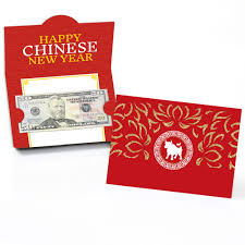 Amazon.com : Big Dot of Happiness Chinese New Year - Money Holder Cards -  2021 Year of the Ox Chinese New Year Gift with Red Envelope Design - Set of  8 : Office Products
