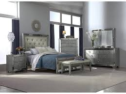 furniture glass bedroom sets black mirrored set