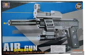 Super Bb Gun With Laser And Torch Light Rosewood Air Sports 202 2 Gun With Laser And Torch Action Toy Full Set With Bullet Laser Screw Driver Silencer And Sun Glass Black