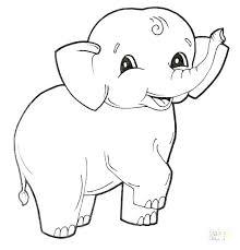 Cartoon Elephant Coloring Pages To Printable Jokingartcom Cartoon
