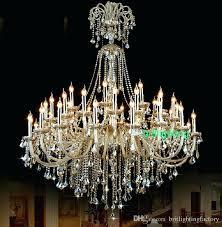 antique brass crystal chandelier 8 light
