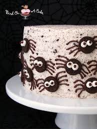 Halloween Bundt Cake Decorations Bird On A Cake Oreo Spiders Cake